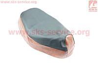 Чехол сидения Honda DIO AF30 (эластичный, прочный материал) черный/коричневый