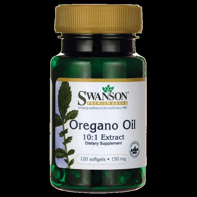 Масло орегано, экстракт 10:1, Swanson Премиум, 150 мг, 120 гелевых капсул