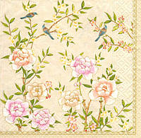 Декупажные салфетки Птицы на цветущих ветках 6894