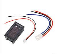 Вольтметр-амперметр постоянного тока ZC15400; 100В 10A; жк-дисплей, 3р