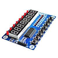 Модуль клавиатуры и светодиодной индикации TM1638