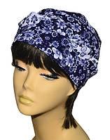 Бандана  женская Голубка  Ромашка Комби  стильная, модная, летняя, красивая  из хлопка