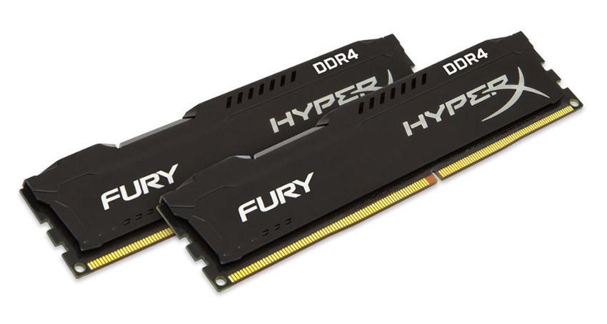 Память Kingston DDR4-2133 16384MB PC4-17000 (Kit of 2x8192) HyperX Fury Black (HX421C14FB2K2/16)