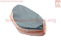 Чехол сидения Honda DIO TACT AF16 (эластичный, прочный материал) черный/коричневый