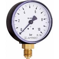 """Манометр Afriso RF для газообразных и жидких сред Ø50 D201 радиальное 1/4"""", 0-6 бар"""