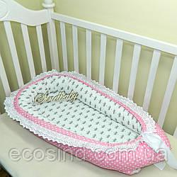 Гнездышко кокон позиционер для новорожденного BabyNest - 05