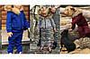 Утепленный детский костюм-двойка с мехом куртка и штаны, серия Мама и дочка , фото 2