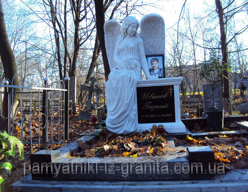 Скульптура ангела из мрамора № 73