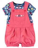 Комплект Carters футболка и комбинезон (роз) 9М,18М,24М