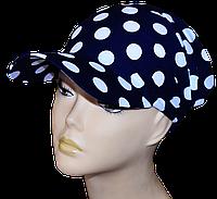 Бандана-повязка Горох На Синем  стильная, модная, летняя, красивая  из хлопка