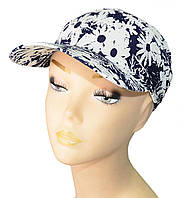 Бандана-повязка Ромашка Синяя стильная, модная, летняя, красивая  из хлопка