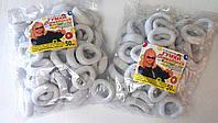 Резинки для волос белые (50 шт)