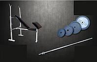 Скамья для жима универсальная с приставкой Скотта + Штанга 72 кг