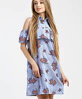 Летнее платье из ситца (Иза leo)