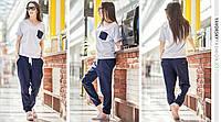 женский летний костюм Эмили штаны и футболка в разных цветах