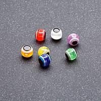 Фурнитура бусина Глаз разноцветная 5 мм ассорти