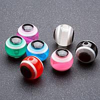 Фурнитура бусина Глаз разноцветная 12 мм ассорти