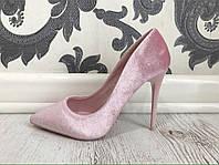 Супер стильные женские туфли лодочки. Материал: Велюр. Каблук: 10 см. Размеры 36-40.