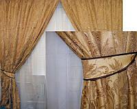 Готовый комплект штор для спальни