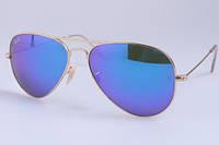 Мужские солнцезащитные очки в стиле RAY BAN aviator large metal 001/17 LUX, фото 1