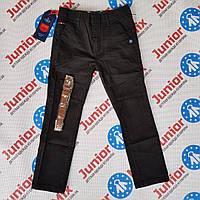 Школьные катоновые подростковые брюки на мальчика чёрного цвета