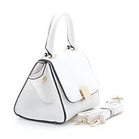 Стильная женская сумка трапеция белая