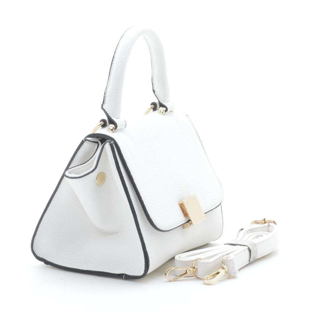 63fc75d2d622 Стильная женская сумка трапеция белая, цена 365 грн., купить в ...