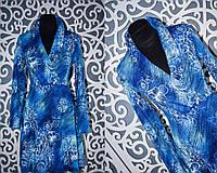 """Женское платье с поясом """"Французский трикотаж"""" 48, 50 размер"""