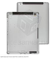 Задняя крышка для планшета Apple iPad 3, серебристая, (версия 3G)