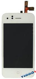 Дисплей (экран) Apple iPhone 3G с тачскрином в сборе TESTED, white (белый), дисплейный модуль