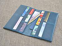 Мужское кожаное портмоне ручной работы для денег и документов