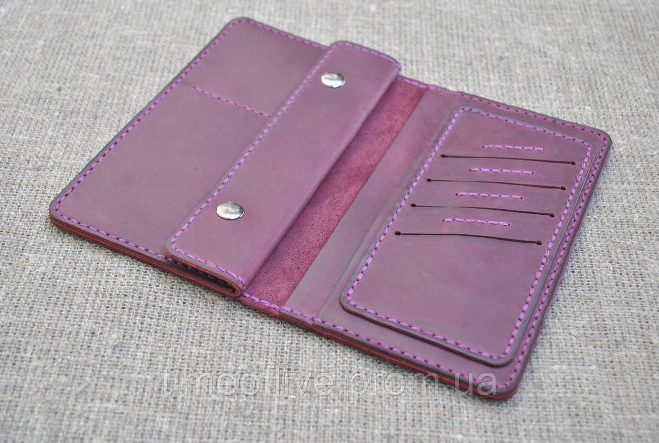 b80195355f95 ... Кожаное портмоне для путешественника из натуральной кожи ручной работы,  ...