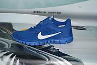 Мужские повседневные кроссовки NIKE Free Run 3.0 синие