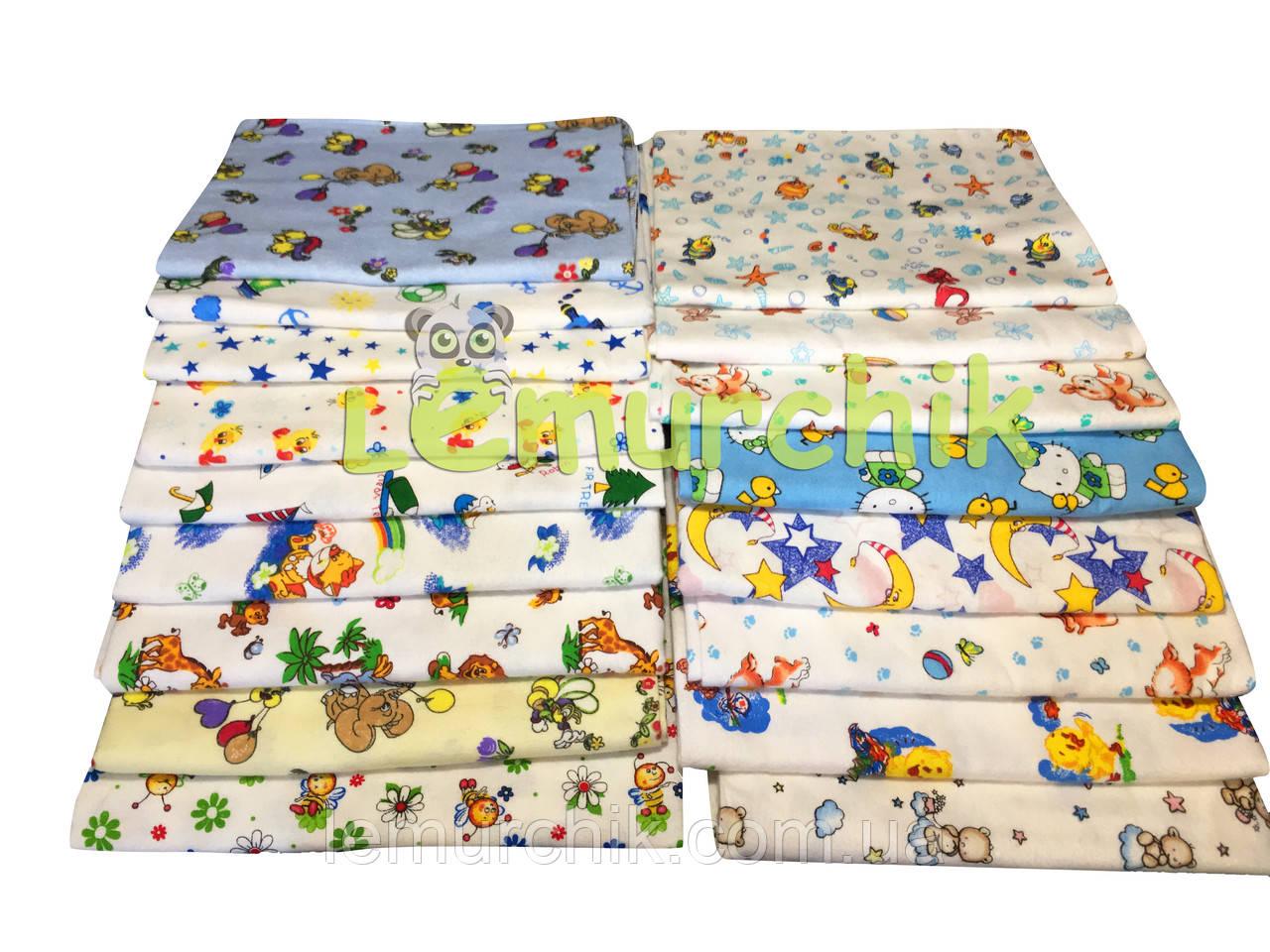 Комплект нежные байковые пеленки (5 шт) для мальчика