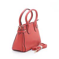 Красная женская сумка с хлястиками
