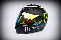Шлем-интеграл BLD №-666 Monster Energy черный/хамелеон