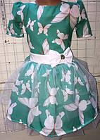 Платье с бабочками для девочки 50059