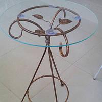 Журнальный столик круглый высокий бронза