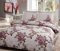 TAC евро комплект постельного белья delux saten Lorca lila