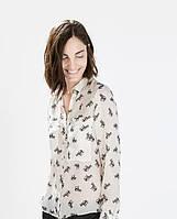 ZARA  Блузка рубашка печать животные