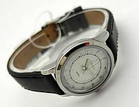 Женские часы Guardo - Italy, цвет серебро, черный ремешок
