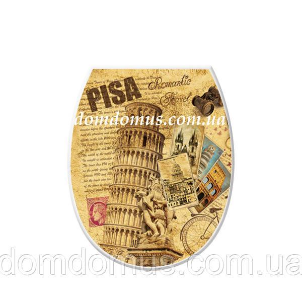 """Сиденье для унитаза с рисунком """"Pisa"""" Elif Plastik, Турция"""
