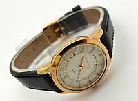 Женские часы Guardo - Italy, цвет золото, черный ремешок