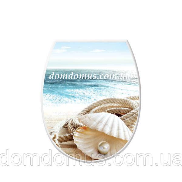 """Сиденье для унитаза с рисунком """"Морская жемчужина"""" Elif Plastik, Турция"""