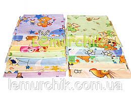 Комплект нежные ситцевые пеленки (5 шт), для мальчика