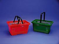 Корзины покупательские. Пластиковые корзины. Корзины для покупателей, Корзины в супермаркет