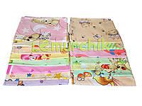 Комплект нежные ситцевые пеленки (5 шт), для девочки