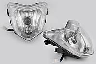Фара головного света универсальная F1 + лампы габаритная