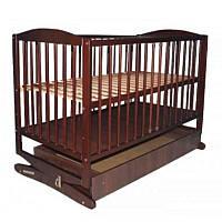 Детская кроватка Klups Radek II орех с ящиком