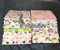 Комплект нежные байковые пеленки для девочки (5 шт), фото 1